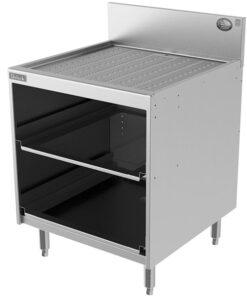 Stainless steel underbar glass rack