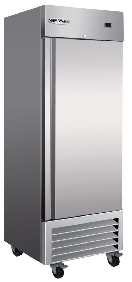 Serv-ware one door stainless steel cooler