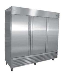 Serv-ware three door Stainless steel reach-in Freezer
