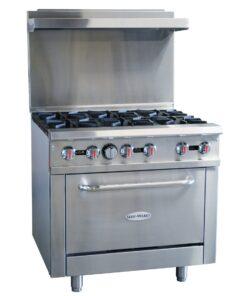 Serv-ware 6 burner range gas