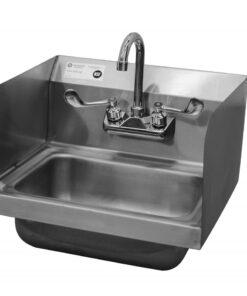 Hand sink with splash guard