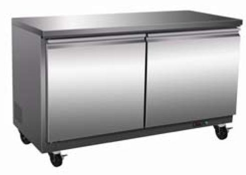 Serv-ware under-counter two door refrigerator