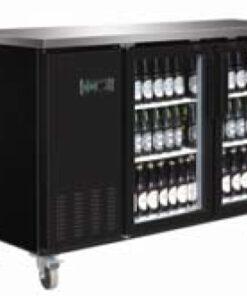 Serv-ware back bar bottle cooler glass door