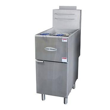 Serv-ware floor model fryer gas