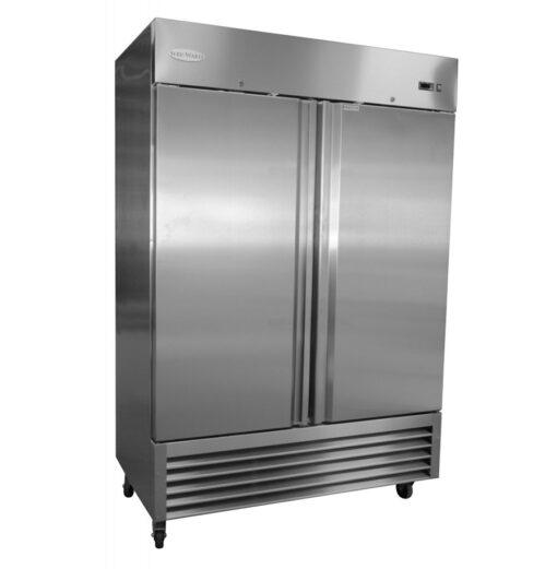 Serv-Ware 2-door Stainless steel reach-inFreezer-RF2-HC