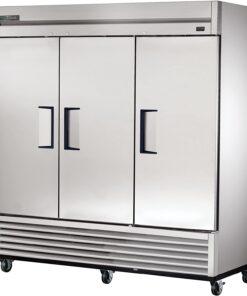 True Three door Stainless steel reach-in Freezer