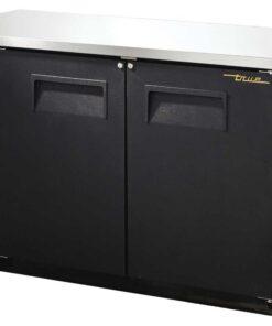 True backbar bottle cooler solid door
