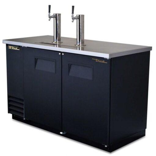 True direct beer dispenser 2 keg cooler
