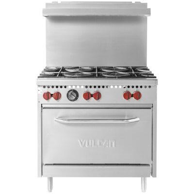Six burner range w oven